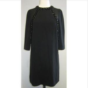MARC BY MARC JACOBS silk black beaded dress SZ 2